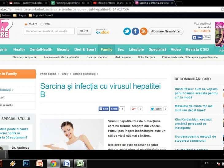 Sarcina şi infecţia cu virusul hepatitei B