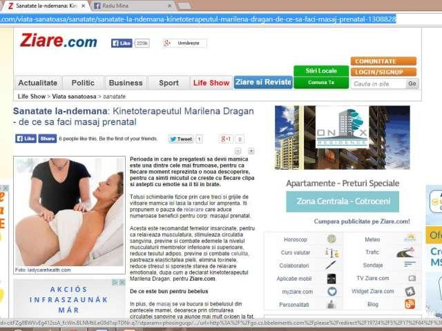 Sănătate la-ndemână: Kinetoterapeutul Marilena Dragan - de ce să faci masaj prenatal
