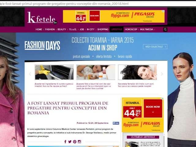 A fost lansat primul program de pregatire pentru conceptie din Romania