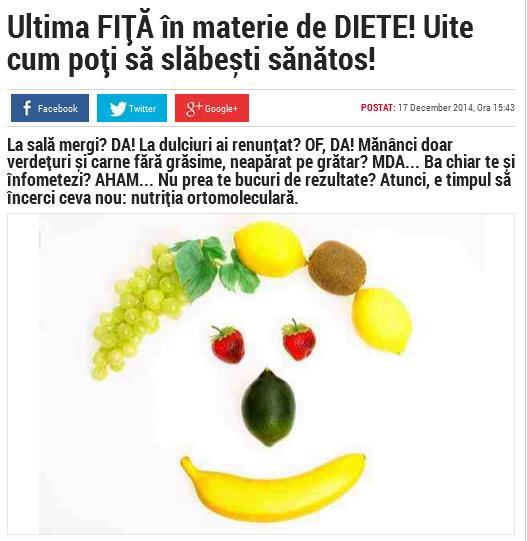 Ultima FIȚĂ în materie de DIETE! Uite cum poți să slăbești sănătos! Citeşte întreaga ştire: Ultima FIȚĂ în materie de DIETE! Uite cum poți să slăbești sănătos!