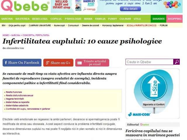 Infertilitatea cuplului: 10 cauze psihologice