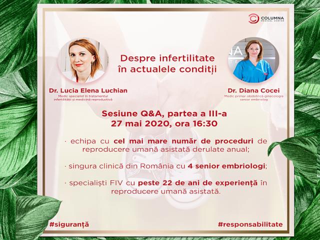 Despre infertilitate în actualele condiții, partea a III-a